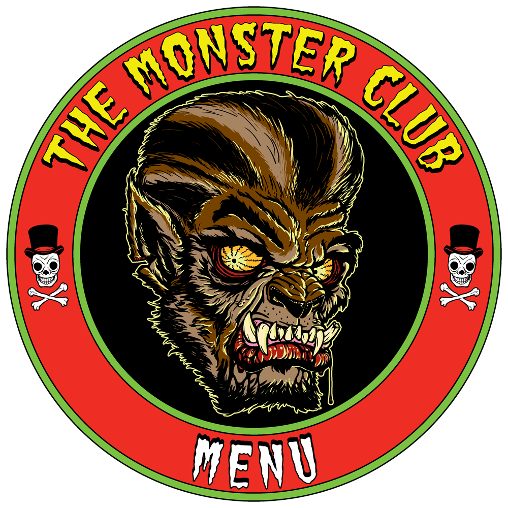 The Monster Club Menu Page